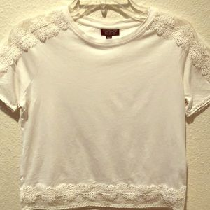 Topshop tee with lace detail